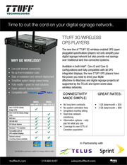 Download Ttuff 3G Wireless Ops Players product sheet