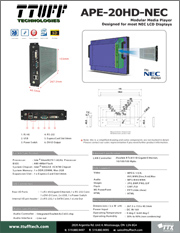 Download APE-20HD-NEC product sheet