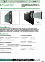 Download DPE-20HD-NEC product sheet