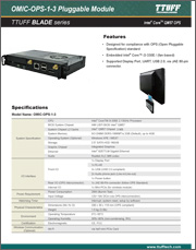 Download OMIC-OPS-1-3 PC Pluggable Module product sheet